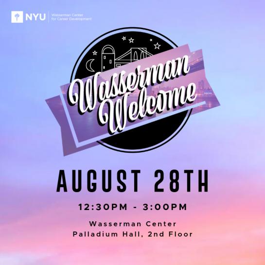 NYU Calendar / Wasserman Welcome