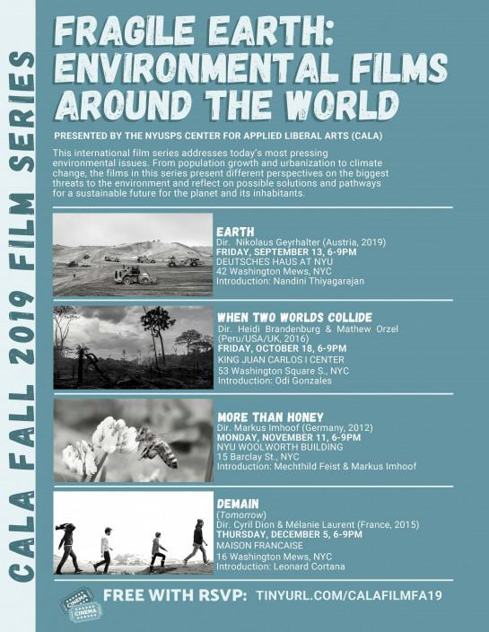 NYU Calendar / CALA Fall 2019 Film Series - Fragile Earth